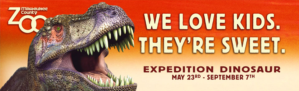 We love kids. They're sweet. - Expedition Dinosaur, sponsored by Sendik's Food Markets - Click to return home